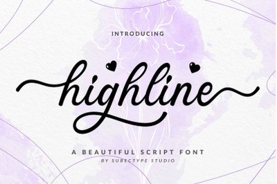 Highline / Beautiful Script Font