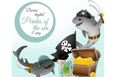 Pirate of the sea clipart