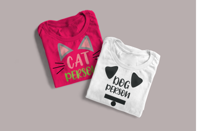 Cat Person and Dog Person Duo | SVG | PNG | DXF | EPS