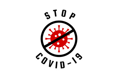 STOP COVID-19 caution vector