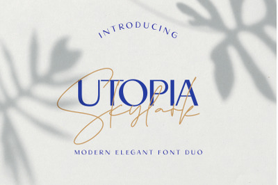 Utopia Skylark - Font Duo