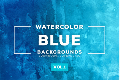 Watercolor Blue Backgrounds Vol.1