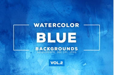 Watercolor Blue Backgrounds Vol.2