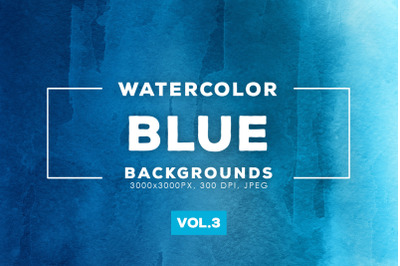 Watercolor Blue Backgrounds Vol.3