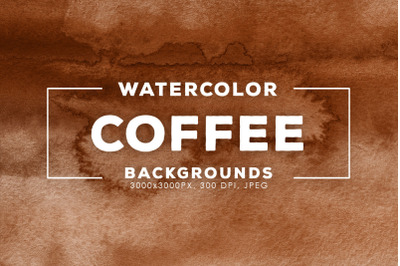 Watercolor Coffee Backgrounds