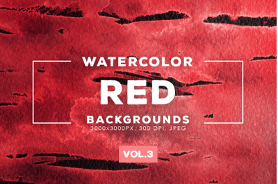 Watercolor Red Backgrounds Vol.3