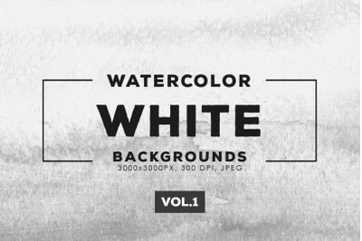 Watercolor White Backgrounds Vol.1