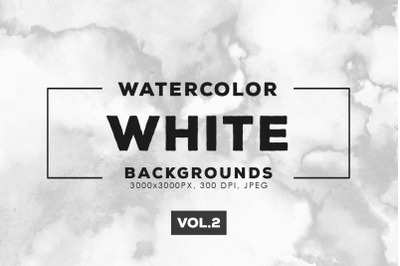 Watercolor White Backgrounds Vol.2