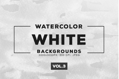 Watercolor White Backgrounds Vol.3