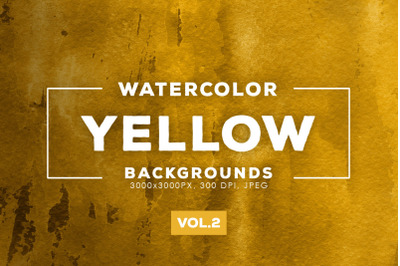 Watercolor Yellow Backgrounds Vol.2
