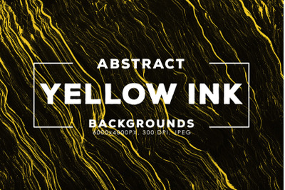 Yellow Abstract Ink Backgrounds