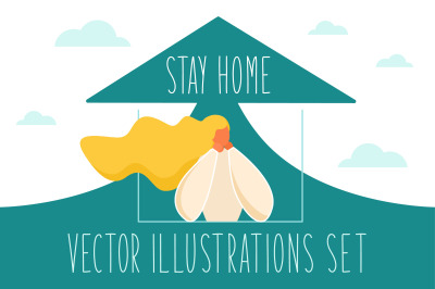 Stay Home Illustrations