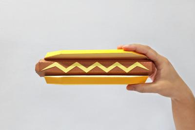 DIY Hotdog - 3d papercraft