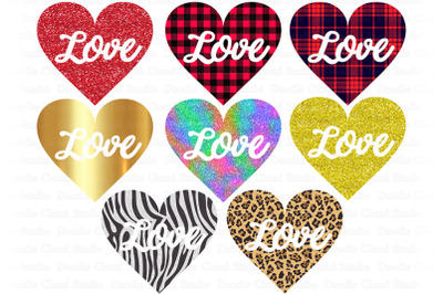Love Heart PNG Bundle, Love Heart Valentine's Day PNG.
