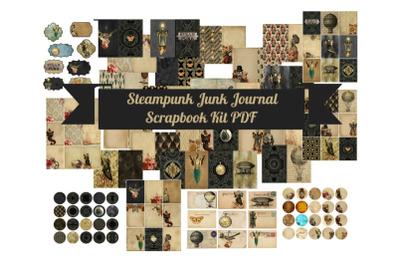 Steampunk Junk Journal Scrapbook Kit