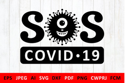 svg Covid-19 Coronavirus 2019-nCoV for DIY mask for volunteers in Quar