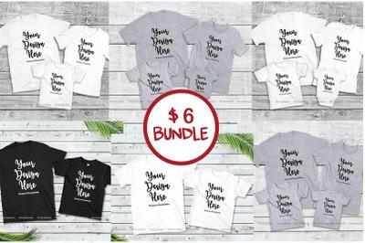 Family Tshirt Mockup Bundle, Mommy & Me Mock Up