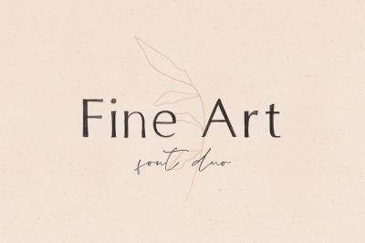 Fine Art Font Duo