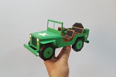DIY Army Jeep - 3d papercraft