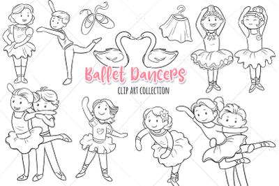 Ballet Dancers Digital Stamps