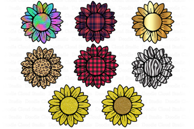 Sunflower PNG Bundle, Design Printable, Sunflower Clipart.