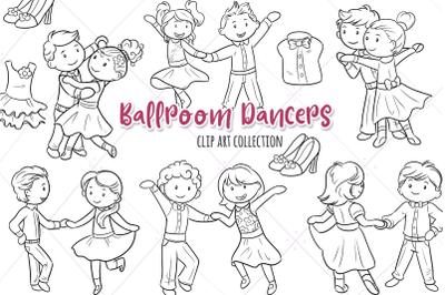 Ballroom Dancers Digital Stamps