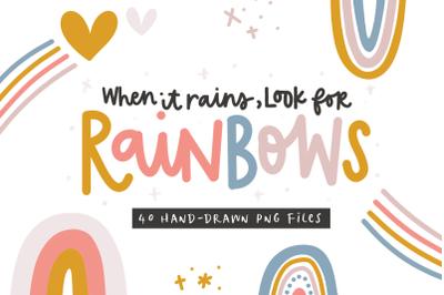 Rainbows - Clip Art Illustrations