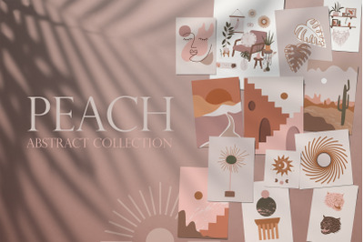 Peach. Abstract collection