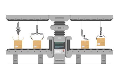 Automatic production conveyor