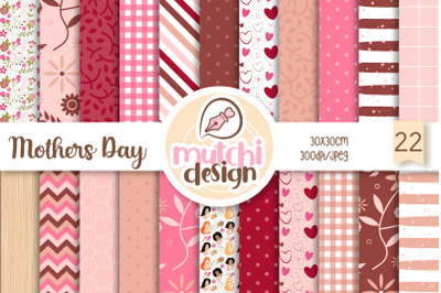 Mothers Day Digital Papers