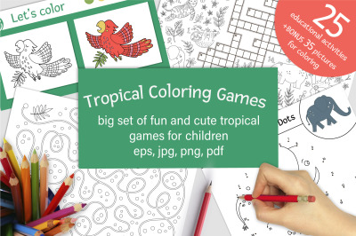 Tropical Coloring Games