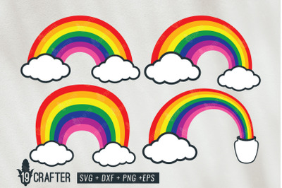 rainbow layered svg file bundle