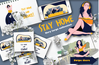 Stay at home - a collection of home comfort, home furnishings, female