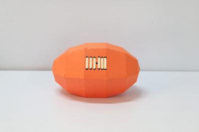 DIY Rugby Ball - 3d papercraft