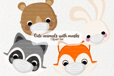 Cute Animals with Masks