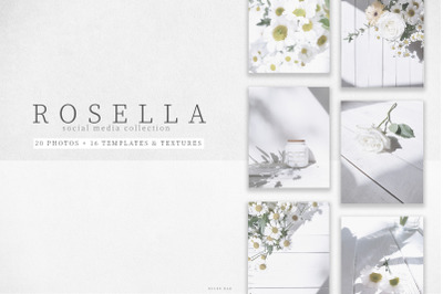 Rosella social media collection photos, posts, templates and textures