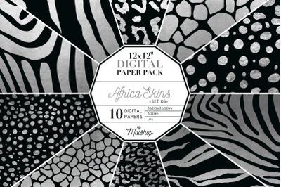 Digital Paper Pack  I  Africa Skins Set 05