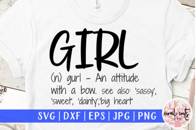 Girl definition - Women Empowerment SVG EPS DXF PNG