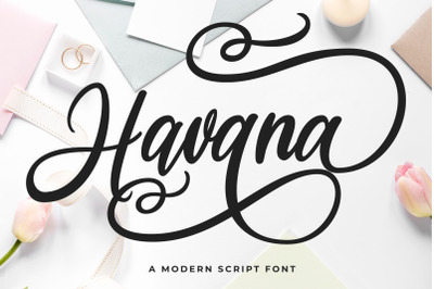 Havana - a Modern Script