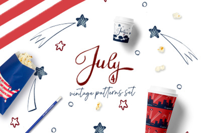 July 4th -Independence Day Vintage Patterns