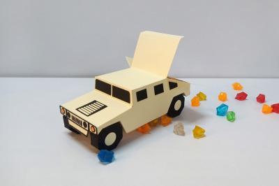 DIY Hummer Favour - 3d papercraft
