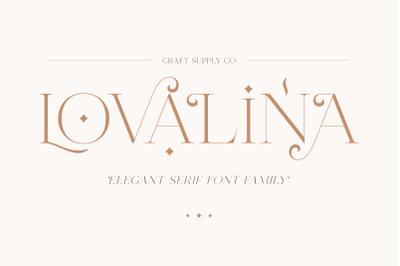 Lovalina - Elegant Serif Font Family