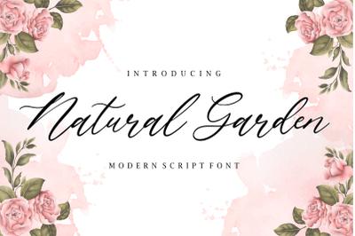 Natural Garden Modern Script Font