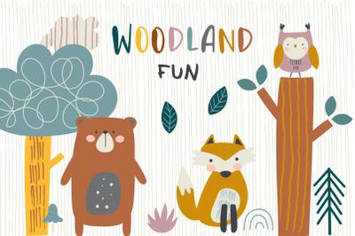 Woodland Fun clipart