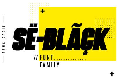 SeBlack Sans Serif Font family