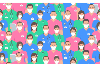Coronavirus pandemic seamless