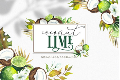 Watercolor  Coconut Lime collection