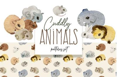 Cuddly Baby Animals Patterns & Illustrations