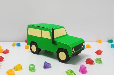 DIY Jeep Favour - 3d papercraft