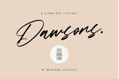 Dawsons Script - Free Sans Font